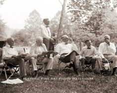 VINTAGE VAGABOND PHOTO HENRY FORD, THOMAS EDISON, WARREN HARDING AND HAVEY FIRESTONE CAMPING TOGETHER 1921.| eBay