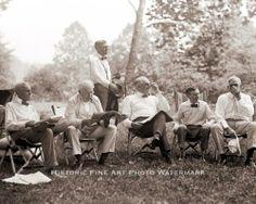 VINTAGE VAGABOND PHOTO HENRY FORD, THOMAS EDISON, WARREN HARDING AND HAVEY FIRESTONE CAMPING TOGETHER 1921.| eBay