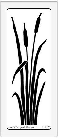 Dreamweaver Large Brass Stencil - Cat Tails