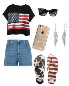 """""""4th of July Outfit"""" by writerchic-618 ❤ liked on Polyvore featuring Chicnova Fashion, Madewell, Havaianas and Agent 18"""