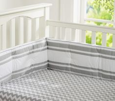 Chevron Stripe Crib Fitted Sheet