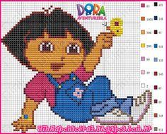 Dora the Explorer - Pattern by Dinha Ponto Cruz