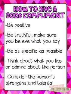 Blair Turner is offering this amazing free pack ~ How to Give a Good Compliment.  Includes a list of positive character traits to look for in others and great ideas for writing.  Awesome!