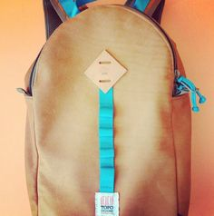 sneak peek of the all leather Light Daypack we're working on for AXS Folk Technology