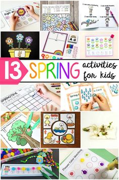 Spring Showers Letter Recognition Game for Preschoolers | spring activities for preschoolers | free preschool printables | spring preschool theme