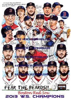 2013 World Series Champions Boston Red Sox by DaveOlsenArtwork, $15.00