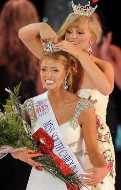 Ali Rogers as she was crowned Miss South Carolina 2012