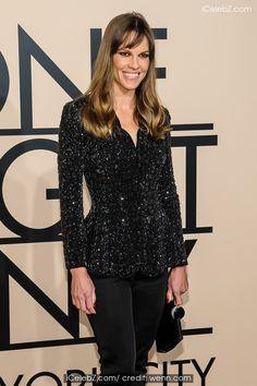 Hilary Swank ( Giorgio Armani #newyork #fashion #show) See more http://www.icelebz.com/events/giorgio_armani_new_york_fashion_show/