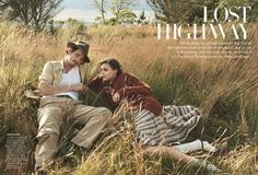 Romantic Road Trip Editorials - The Vogue US Lost Highway Photoshoot Stars Actor Garrett Hedlund (GALLERY)