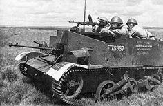 Bren Gun carrier and Soviet soldiers