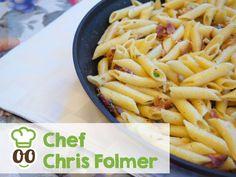 Hmmm....Penne Carbonara by Chef Chris!  What's your favorite pasta sauce? Marinara, carbonara, alfredo...?