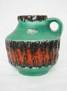 Carstens Tönnieshof vase, moulded mark: 223-15. WGP West German Pottery.