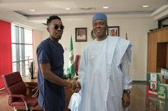 Welcome To Online News 411: Patoranking Meets Nigeria Senate President Today, ...