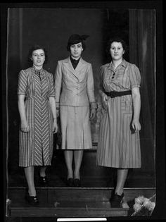 college fashion 1938 - Perhaps the center one gives a sense of Donna Lucia (as a very fashionable older women)?