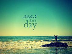 Carpe Diem ♥TG just do it! Beach Quotes, Salt And Water, Water Water, Sea And Ocean, Beach Bum, Sunset Beach, Carpe Diem, Surfing, Waves