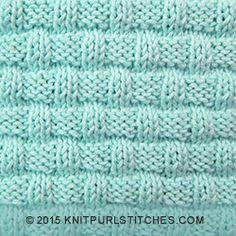 Basketweave pattern   Knit and purl stitches
