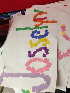 First week of school name art project