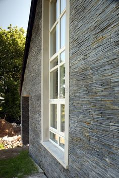 Tier is a real stone panelling system specifically designed to create a distinctive, natural stone finish wherever it's used. External Wall Cladding, Panel Systems, Wall Finishes, Panelling, Slate, Natural Stones, Windows, Google Search, Nature