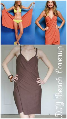 DIY Easy Victorias Secret Beach Cover Up. Remember when I posted thisVictorias Secret Cover Up (Top Photo)? Well now theres a tutorial for it. Bottom Photo: La Vie En Rose. Incredibly easyTutorial from La Vie En Rose here.EDIT: There is now a NO SEW version by La Vie En Rose here. For lots more DIY cover ups go here:truebluemeandyou.tumblr.com/tagged/cover-up