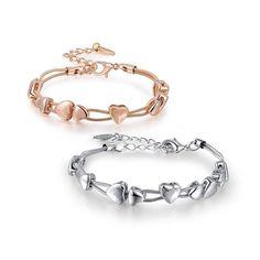 Bracelet Rose Gold, Heart Bracelet, Metal Bracelets, Bangle Bracelets, Bangles, Rope Chain, Shape Patterns, Types Of Metal, Wedding Engagement