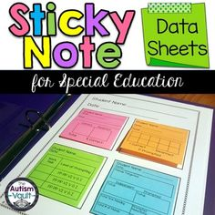 This resource includes data sheets that can be printed on to 3x3 sticky notes…