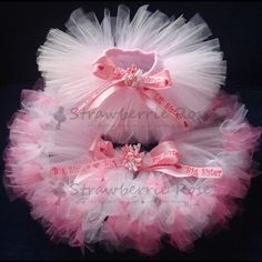 Baby Girls Birthday Tutu Dress Outfit Baby by StrawberrieRose