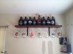 Built a $20 beer growler shelf.
