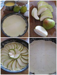 Hruškový koláč s pudinkem  Dnes jeden velmi rychlý recept na koláč s hruškami a pudinkem... Recept je opravdu snadný a ryc... Cheese, Recipes, Food, Essen, Meals, Ripped Recipes, Yemek, Cooking Recipes, Eten