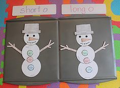 short o long o snowman Mom to 2 Posh Lil Divas: Learning to Read Snow Theme, Winter Theme, Home Learning, Fun Learning, Preschool Learning, Winter Activities For Kids, Winter Games, Short O, Crayon Box