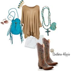 """Turquoise"" by southern-hippie on Polyvore"