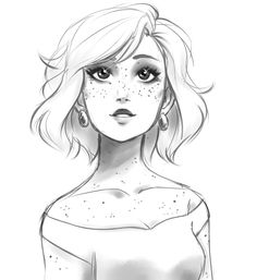 "nessaandoliver: "" stars on her skin, stars in her eyes "" Girl Drawing Sketches, Pencil Art Drawings, Cartoon Drawings, Cartoon Art, Cute Drawings, Character Drawing, Drawing People, Pattern Art, Cute Art"