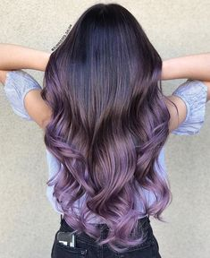 babylights by hairbypkilla Creative color by hairbybettyn Used all guytang mydentity Hair Dye Colors, Ombre Hair Color, Hair Color Balayage, Cool Hair Color, Purple Hair Colors, Purple Balayage, Hair Colour, Lavender Hair, Lilac Hair