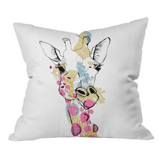 Casey Rogers Giraffe Color Pillow [thanks @Pascale Lemay De Groof  ]