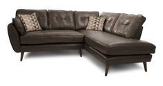 Zinc Leather Left Arm Facing Corner Group  | DFS
