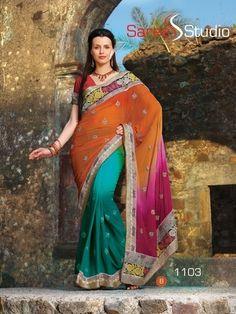 Wedding Bridal Ethnic Indian Pakistani Bollywood Designer Saree
