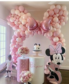 Minnie Mouse Birthday Theme, 2nd Birthday Party For Girl, Minnie Mouse Baby Shower, Birthday Celebration, Birthday Ideas, Minnie Maus Ballons, Minnie Mouse Birthday Decorations, Balloon, Mini Party