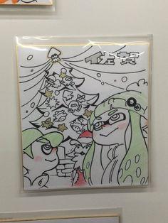 Sagakeenコラボショップには、『スプラトゥーン』アートディレクター井上さんの直筆色紙も飾られています。イカす!   #スプラトゥーン #sagakeen