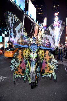2014, Heidi Klum as a butterfly   - MarieClaire.com