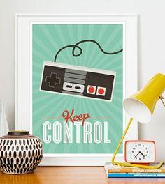 KEEP CONTROL retro poster by Jan Skacelik