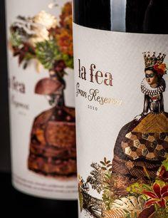 La Fea_ Packaging design by Ruska Martin Associates. See more at ruskamartin.de Wine Bottle Design, Wine Label Design, Wine Label Art, Wine Labels, Packaging Design, Branding Design, Wine Prices, Wine Photography, Wine Brands