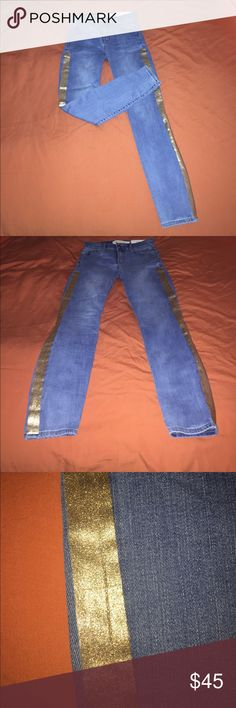 I just added this listing on Poshmark: Gap NWT stretch skinny jeans w metallic stripe. #shopmycloset #poshmark #fashion #shopping #style #forsale #GAP #Denim