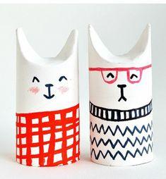 basteln mit klopapierrollen diy ideen deko ideen basteln mit kindern hund und katze