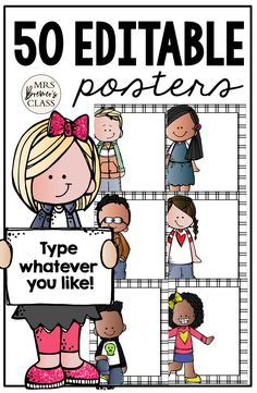 Type in whatever you like! Classroom signs, learning standards, center instructions, notes, anything at all! Classroom Signs, Classroom Posters, Classroom Setup, Classroom Organization, 1st Grade Activities, Back To School Activities, First Grade Classroom, Kindergarten Classroom, Back To School Pictures