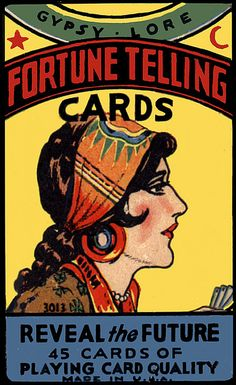 Vintage Fortune Telling Cards Box