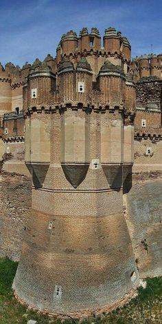 Castillo de Coca, Segovia, España