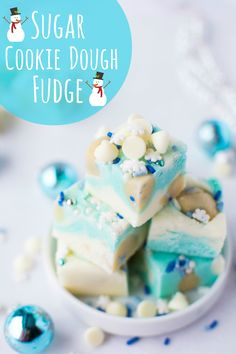 Sugar Cookie Dough Fudge