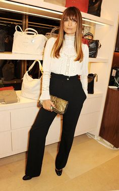 London Fashion Week Spring 2014: Longchamp Flagship Opening - Caroline de Maigret