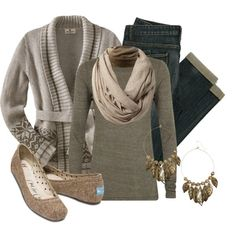 """""""Earth Tones & Tweed"""" by qtpiekelso on Polyvore"""