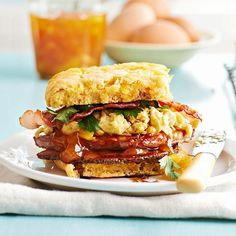 Oh, yum! Sweet Potato Biscuit Sandwiches with Ham and Redeye Gravy. More recipes from the magazine: http://www.bhg.com/recipes/from-better-homes-and-gardens/january-2013-recipes/