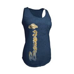 4e9fbc845eb2b3 Milwaukee Brewers Women s Burnout Tank by 5th Ocean ( 20) found on Polyvore